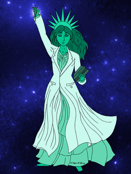 Lady Liberty as a Scientist by Alya-Phoenix