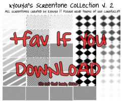 Screentone Collection v.2 by kyouyatsu