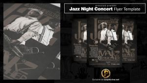 Jazz Night Concert Flyer Template by prassetyo