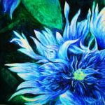 Blue flower by Violettehal0z