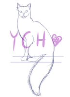 Ych sitting cat (closed) by Drunk-Kitten