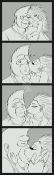 Johnny x Ash - Photobooth Kiss by SetoAngel01