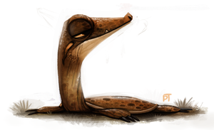 Day 562. Still busy, here's a soft shell turtle by Cryptid-Creations