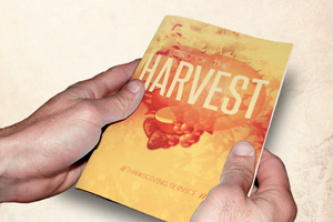 Lord of the Harvest Church Bulletin Template by loswl