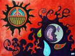 Sun and Moon by Igotsomepopsickles