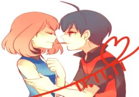 Franticshipping (pocky game) by moegiharuno