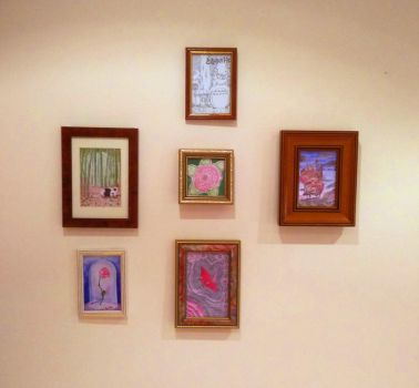 Vintage framed paintings by CuriousBunnyClothing