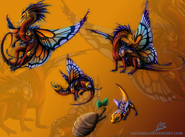 Butterfly dragon by Alkharia