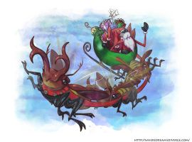 Spider Claus by wheredreamsdiverge