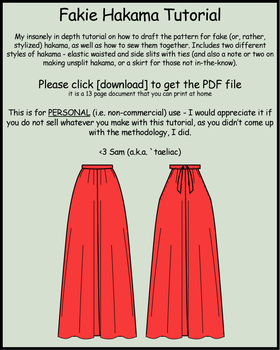 Tutorial: Make your own hakama by taeliac