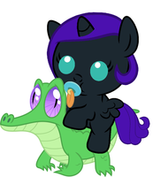 Nyx riding Gummy by red4567-2