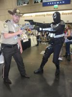 Walking Deads Rick Grimes vs Agent Venom by pa68