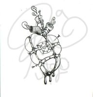 Tin Man's Heart Tattoo design by wildwillowoods