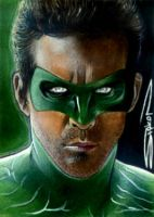 Green Lantern Sketch Card by RandySiplon