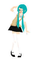 [MMD] School Miku Contest WIP by ginconomp