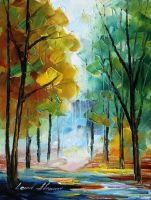 October 3 by Leonid Afremov by Leonidafremov