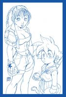 BULMA and GOKU by Mundokk