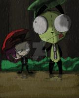 My neighbor Gir (Invader Zim) by KGBunn