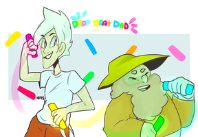 son cream and yellow dad by MissPolycysticOvary