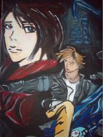 Bio-Hazard 7 Leon and Claire by f117lionhartgordon