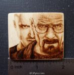 Breaking Bad - Mini woodburning by brandojones