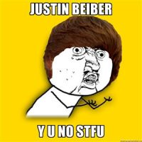 justin beiber y u no by starthewolf2001