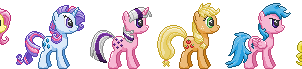 Mane 6 Sprite Collection -1st Gen Edition by Viral-Code