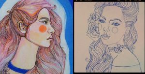 A series of unfinished drawings II by LucyJOrchard