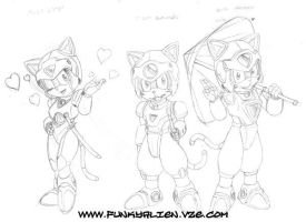 Samurai Pizza Cats by funkyalien
