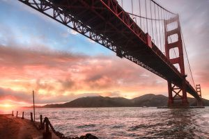 Golden Gate, underneath by alierturk