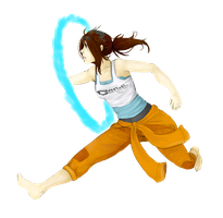 Chell by NoyiiArts
