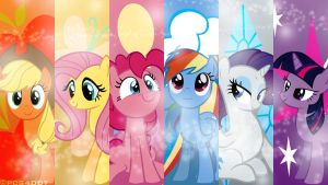 Mane 6 Bokeh by PCS4DDT