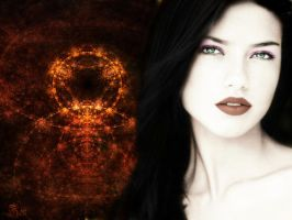 Adriana Lima Gothic Wallpaper by LoganDTR