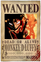 Luffy's Bounty Poster by JaredofArt