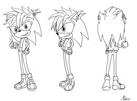 sketch Manic The Hedgehog by jadenyugi9
