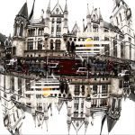 reflection in a puddle by davespertine