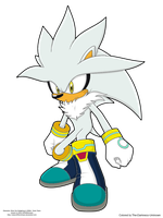 Silver the Hedgehog Colored by xXDarknessShadowXx