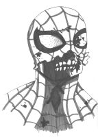 Zombie Spiderman by PaintedBlack13