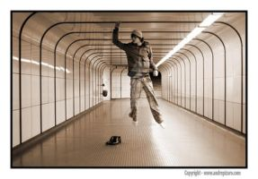 Flying Male Model in the sub by AndrePizaro