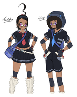 Pokemon Black+White 3 Protagonists by Midnitez-REMIX