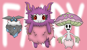 Some Fairy Type Pokemon I haven't drawn before