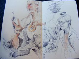 Some new sketchbook shenanigans. by Moleskine126