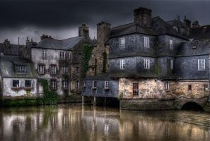 Old town evening by PirateRoberts