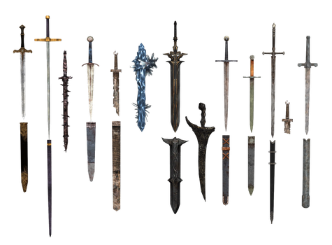 Otakupride318 deviantart likewise Witch weapon further Arkossfobes as well Barbed Wire Sword additionally Werebuster. on swords and souls