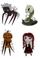 Creepy/Gory Adoptables Batch 2 -Closed- by PlagueDoc3