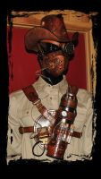 steampunk respirator  steam cowboy by Lagueuse
