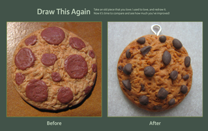 Draw (sculpt) this again - chocolate cookie by Panna-Kot