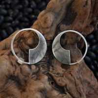 Sabre Series Silver Earrings 2 by DreamingDragonDesign