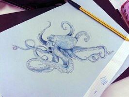 Yay! Another octopus xD by LadyFabcurly