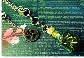 Industrial Steampunk Tinker Jewelry Set by random-wish
